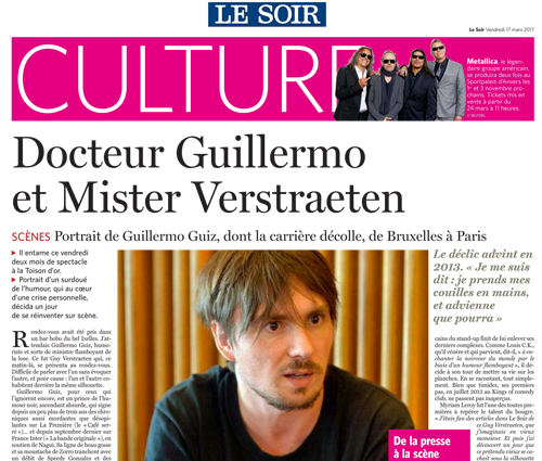 Photo d'article de Guillermo Guiz Le Soir