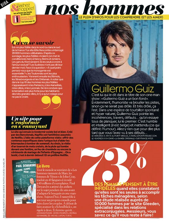 Photo d'article de Guillermo Guiz sur Biba