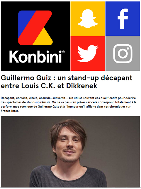 Photo d'article de Guillermo Guiz sur Konbini