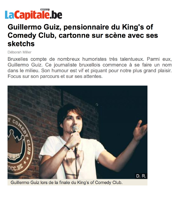 Photo d'article de Guillermo Guiz, Phénomène de l'Humour