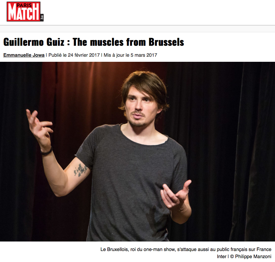 Photo d'article de Guillermo Guiz sur Paris Match