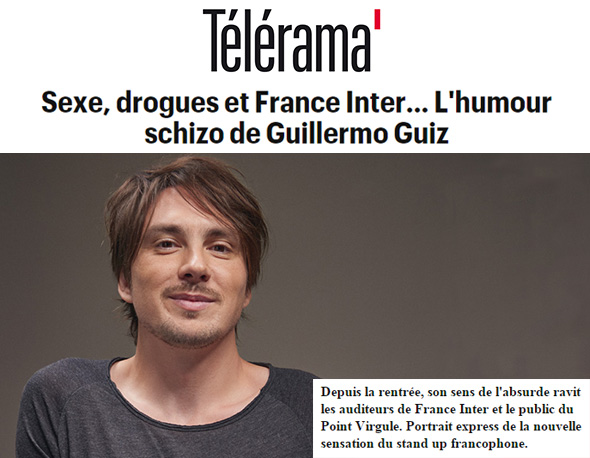 Photo d'article de Guillermo Guiz sur Telerama